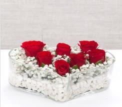 kalp içerisinde 7 adet kırmızı gül  Ardahan çiçek siparişi vermek