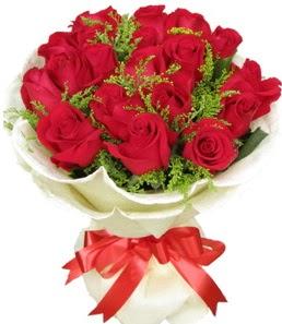 19 adet kırmızı gülden buket tanzimi  Ardahan çiçek servisi , çiçekçi adresleri