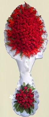 Çift katlı kıpkırmızı düğün açılış çiçeği  Ardahan anneler günü çiçek yolla