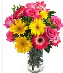 Vazoda Karışık mevsim çiçeği  Ardahan çiçekçi mağazası