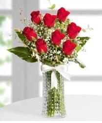 7 Adet vazoda kırmızı gül sevgiliye özel  Ardahan çiçek siparişi sitesi