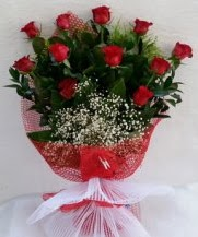 11 adet kırmızı gülden görsel çiçek  Ardahan çiçek satışı