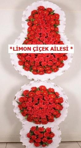 3 katlı kırmızı düğün açılış çiçeği  Ardahan çiçek gönderme