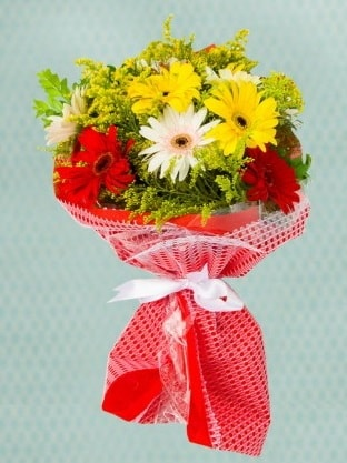 Karışık Gelbera Buketi  Ardahan çiçek siparişi sitesi