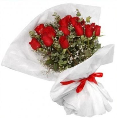 9 adet kırmızı gül buketi  Ardahan çiçekçi mağazası