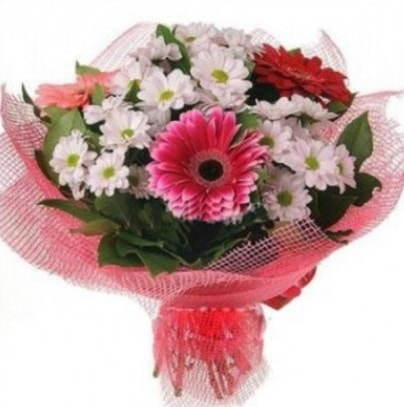 Gerbera ve kır çiçekleri buketi  Ardahan internetten çiçek siparişi