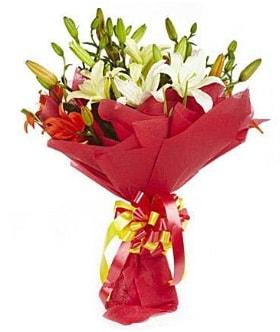 5 dal kazanlanka lilyum buketi  Ardahan çiçek gönderme sitemiz güvenlidir