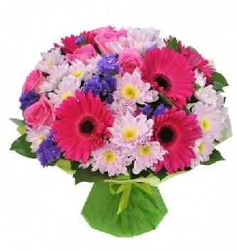 Karışık mevsim buketi mevsimsel buket  Ardahan çiçek satışı