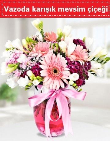 Vazoda karışık mevsim çiçeği  Ardahan çiçek , çiçekçi , çiçekçilik