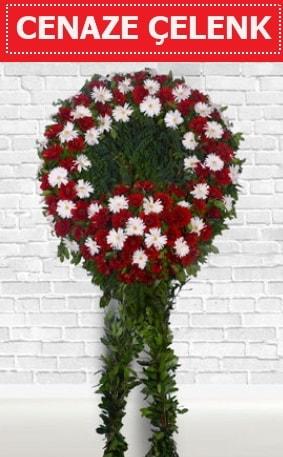 Kırmızı Beyaz Çelenk Cenaze çiçeği  Ardahan İnternetten çiçek siparişi