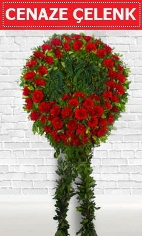 Kırmızı Çelenk Cenaze çiçeği  Ardahan İnternetten çiçek siparişi
