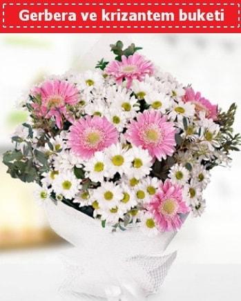 Papatya ve Gerbera Buketi  Ardahan çiçek , çiçekçi , çiçekçilik