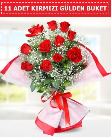 11 Adet Kırmızı Gül Buketi  Ardahan internetten çiçek siparişi
