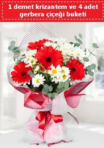 Krizantem ve Gerbera Buketi  Ardahan çiçek siparişi sitesi