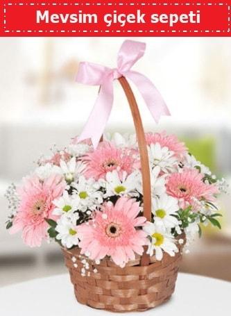 Mevsim kır çiçek sepeti  Ardahan çiçek , çiçekçi , çiçekçilik
