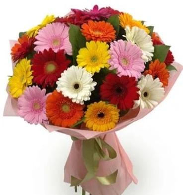 Karışık büyük boy gerbera çiçek buketi  Ardahan çiçek satışı