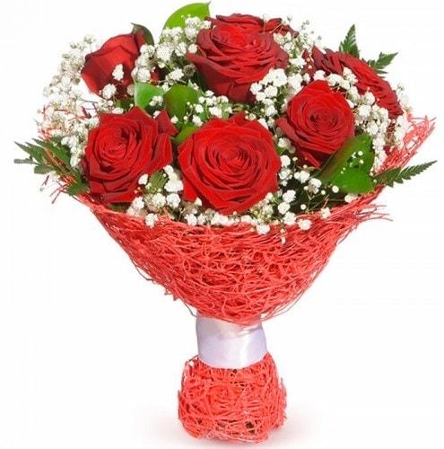 7 adet kırmızı gül buketi  Ardahan çiçekçiler